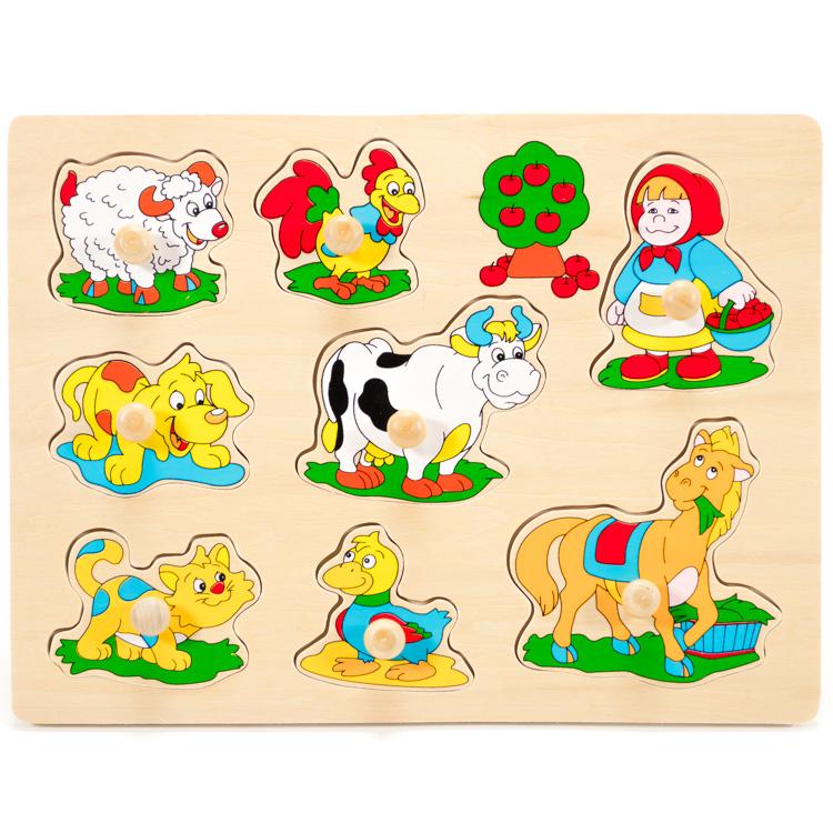 Fogantyús puzzle (bárányos)