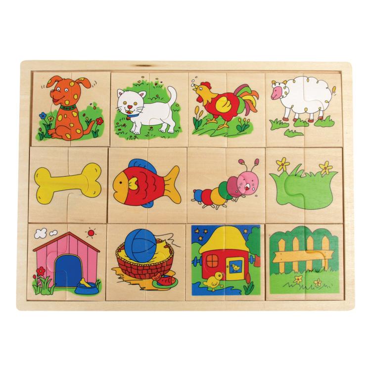 Puzzle felezõ (állatos)