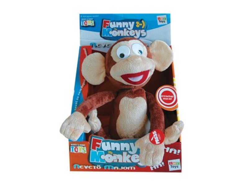 Nevetõ majom interaktív plüssfigura - 30 cm