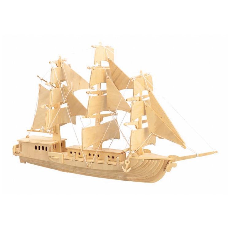 3D puzzle európai hajó (natúr)
