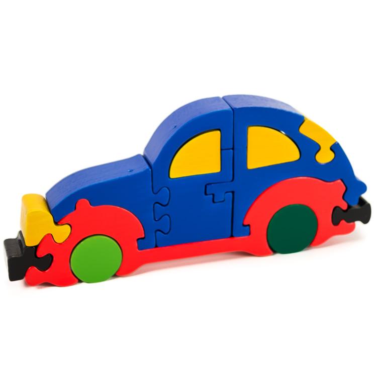 Puzzoo bogárhátú autó (kék)