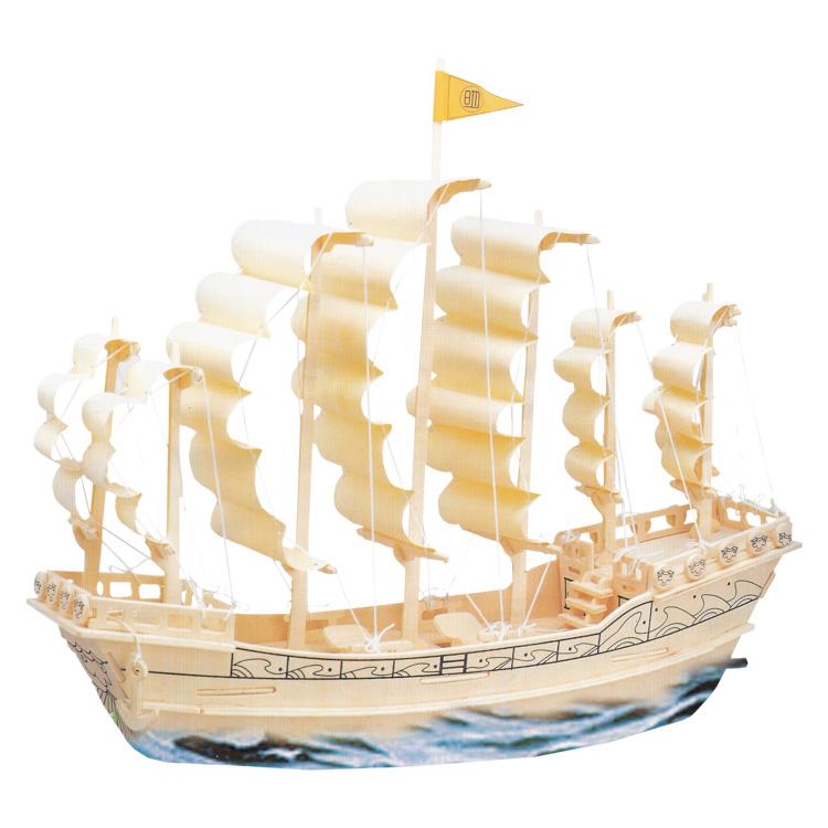 3D puzzle vitorlás hajó a Ming dinasztiából (natúr)