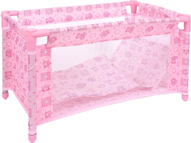 Szögletes textil járóka játék babákhoz