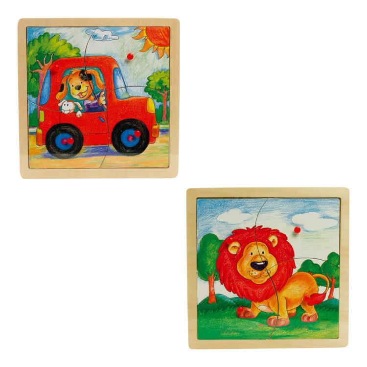Fogantyús puzzle (4 db-os, 2 db együtt)