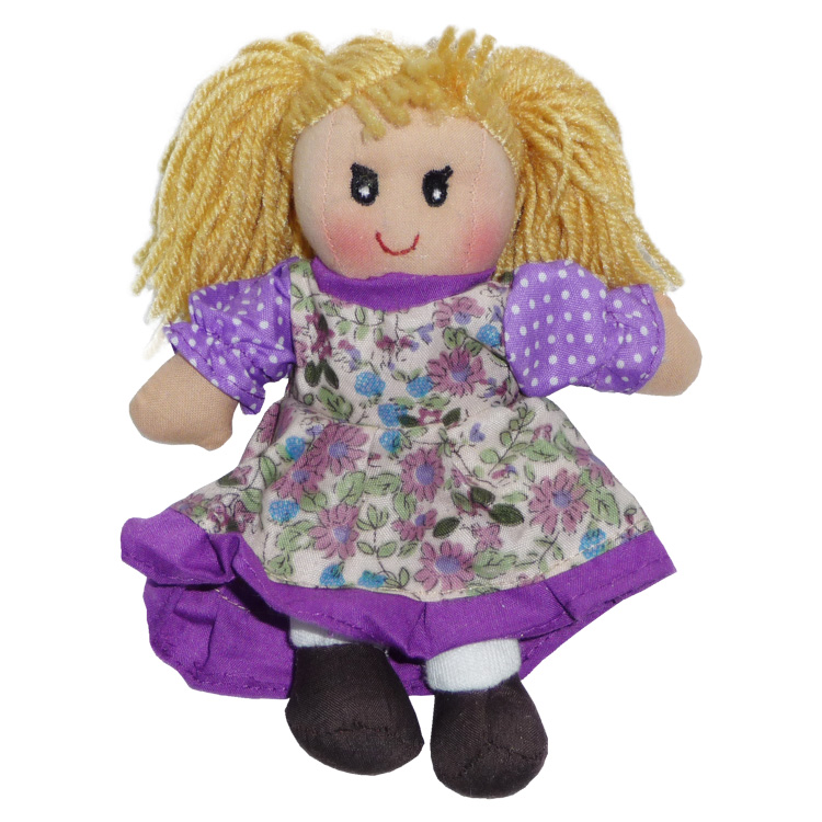 Rongybaba (lány, lila, 25 cm)