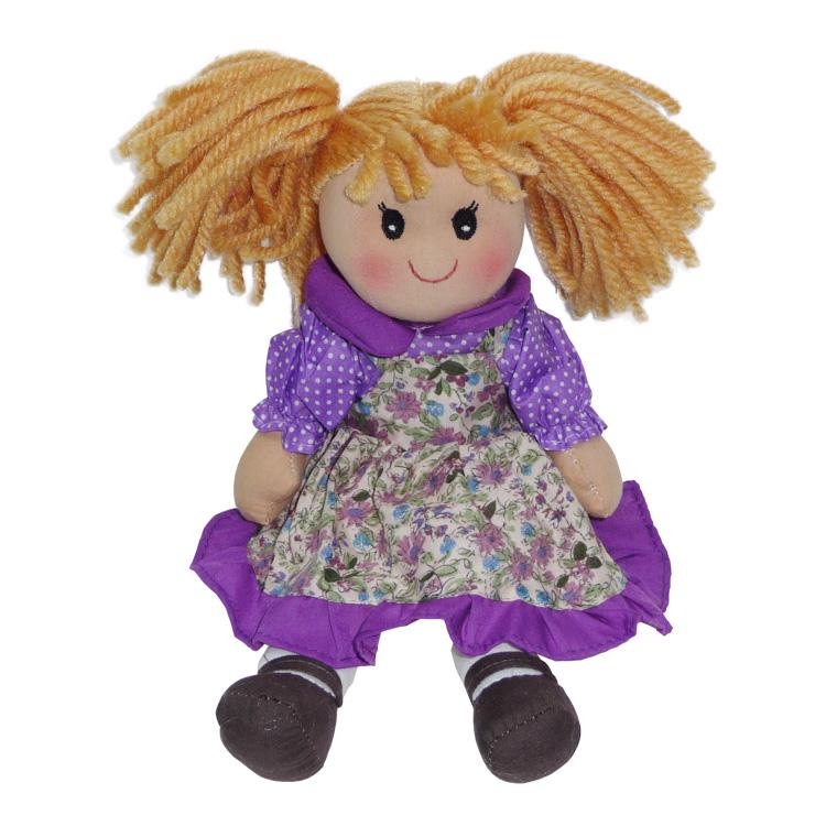 Rongybaba (lány, lila, 30 cm)