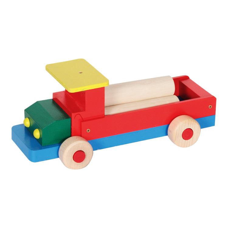 Színes teherautó (nagy, rönkökkel)