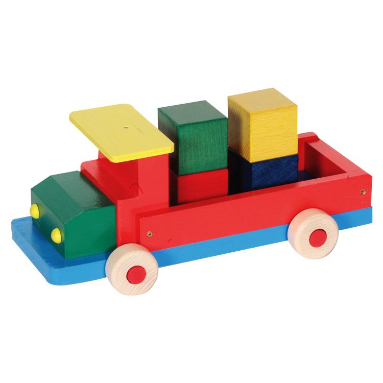 Színes teherautó (nagy, kockákkal)