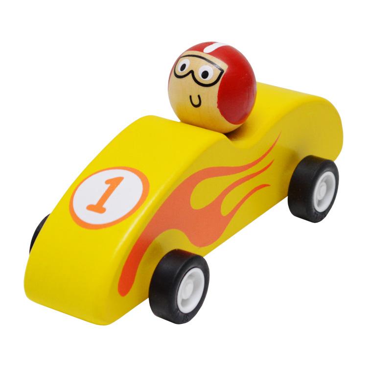 Lendkerekes versenyautó (sárga)