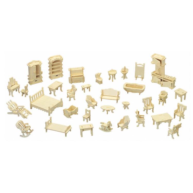 3D puzzle bútorgarnitúra (natúr)