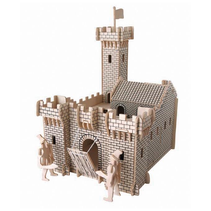 3D puzzle lovagi vár (natúr)