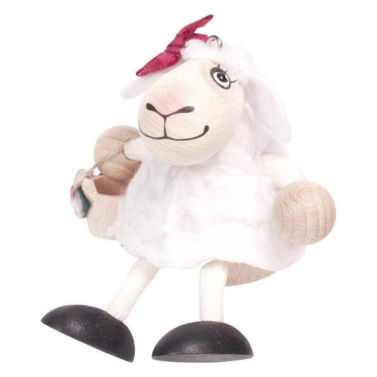 Rugós figura (fehér bárány)