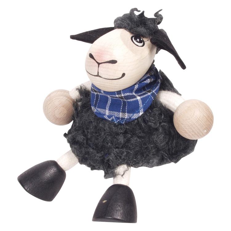 Rugós figura (fekete bárány-fiú)