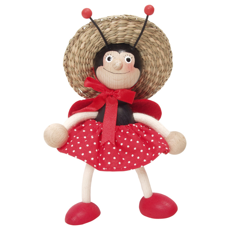 Rugós figura (katica-lány, kalapos)