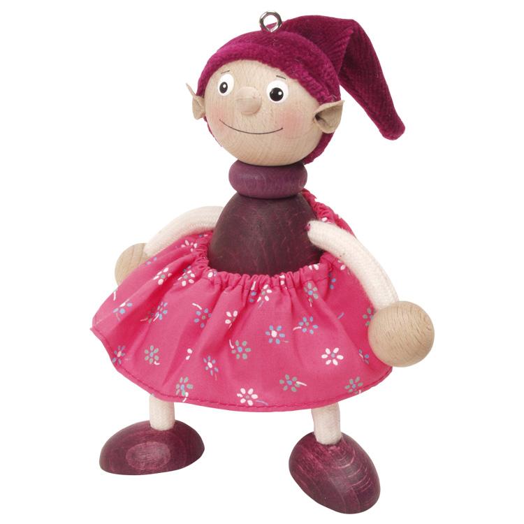 Rugós figura (manó-lány, bordó)