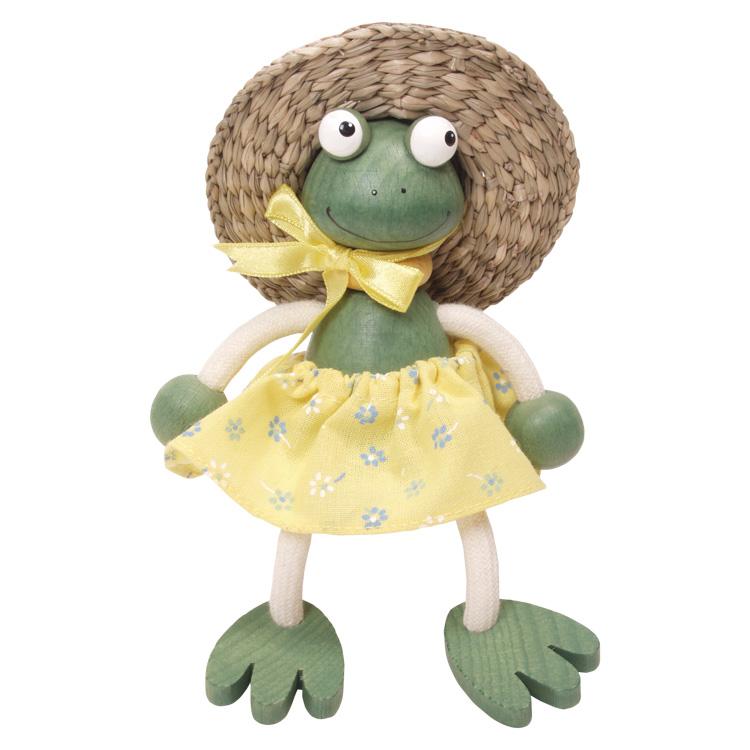 Rugós figura (béka-lány, kalapos)