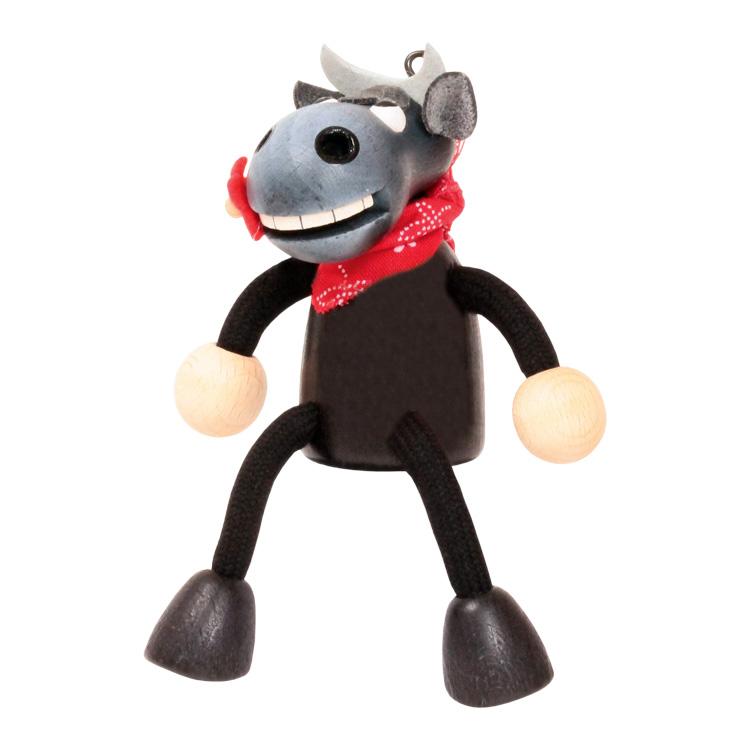 Rugós figura (bika, fekete)