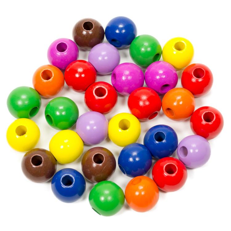 Fagolyó színes (25 mm, 30 db-os)
