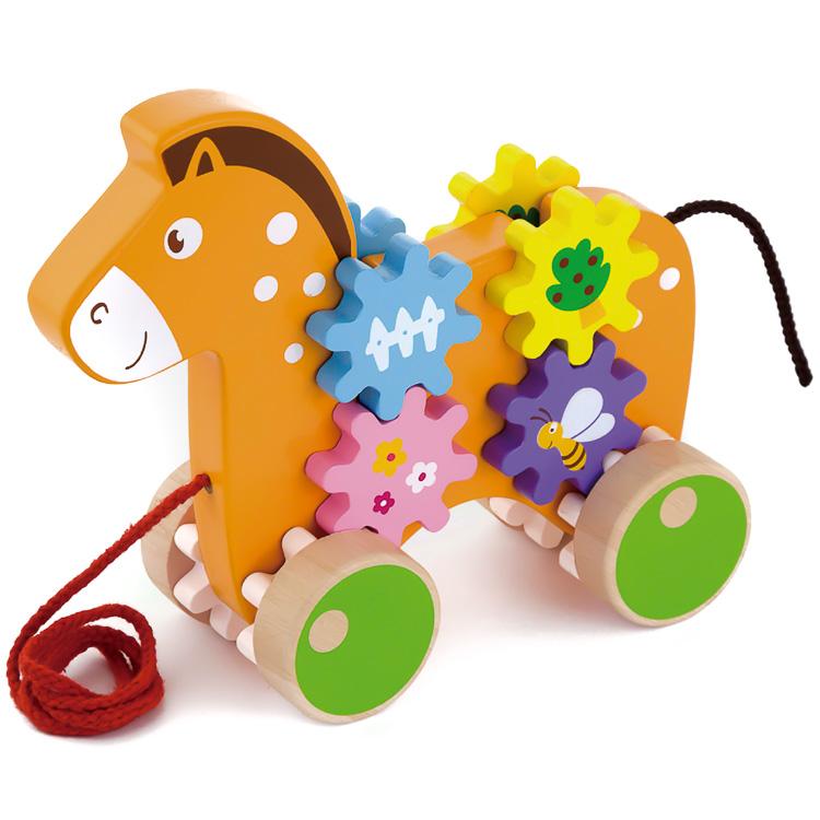 Húzogatós játék - ló fogaskerekekkel