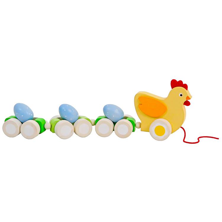 Húzogatós játék - tyúk tojásokkal