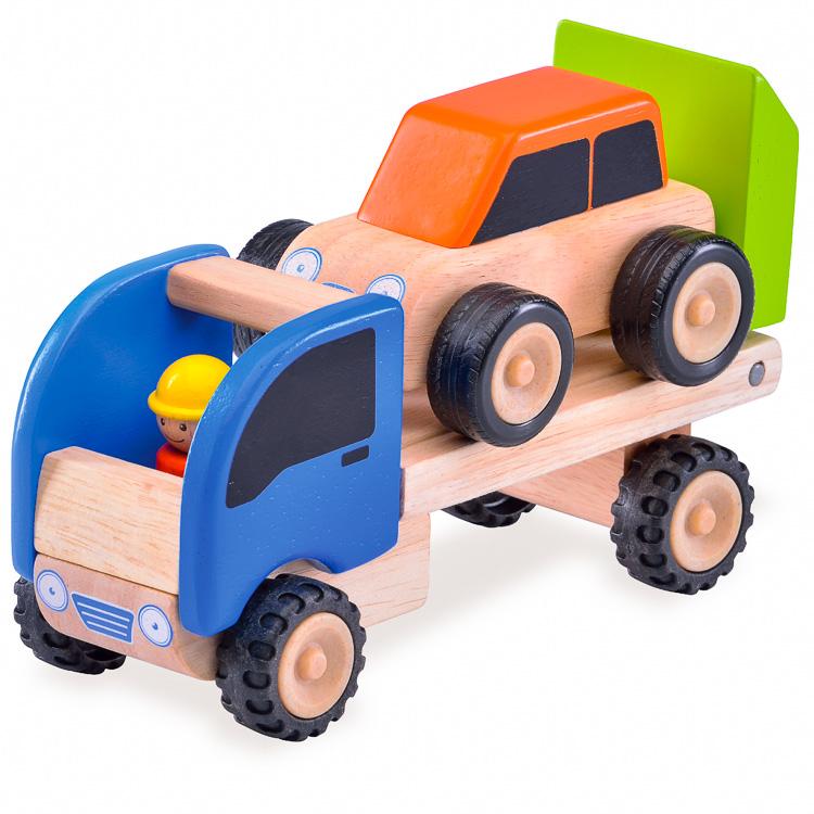 Játék autószállító tréler (W)