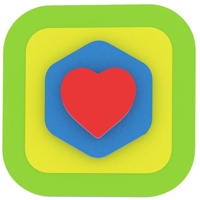 Az elsõ kirakósom - Zöld négyzet-szív