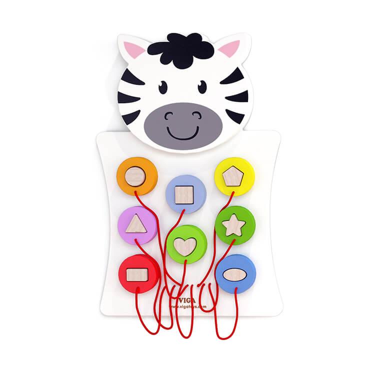 Falra szerelhetõ logikai játék (zebra)