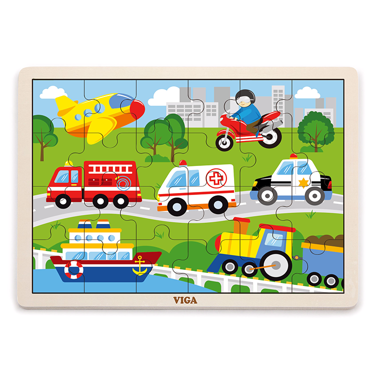 Puzzle 24 db-os (jármûvek)