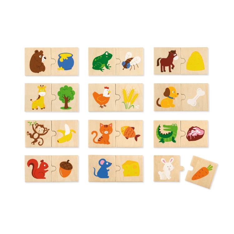 Készségfejlesztõ Puzzle (Mit esznek az állatok?)