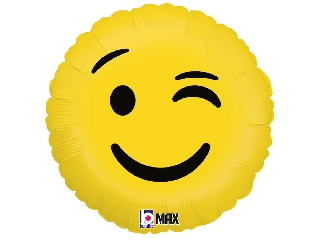 Kacsintó Emoji fólia lufi