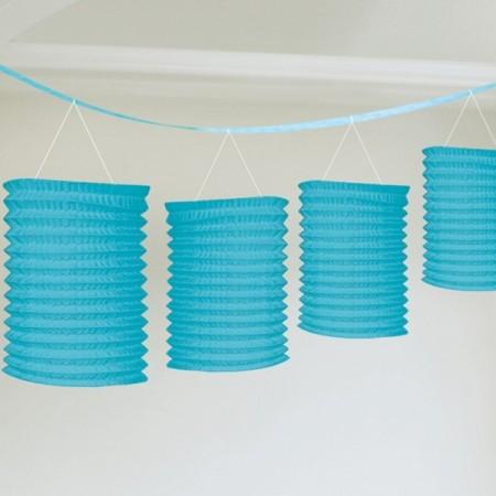 Kék girland lampion 3, 65 m