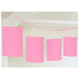 Pink girland lampion 3, 65 m