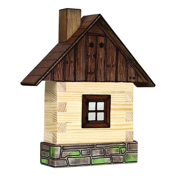 Walachia fa építõjáték - Ablakos fakunyhó (fali)