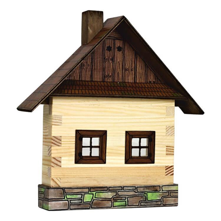 Walachia fa építõjáték - Dupla ablakos fakunyhó (fali)