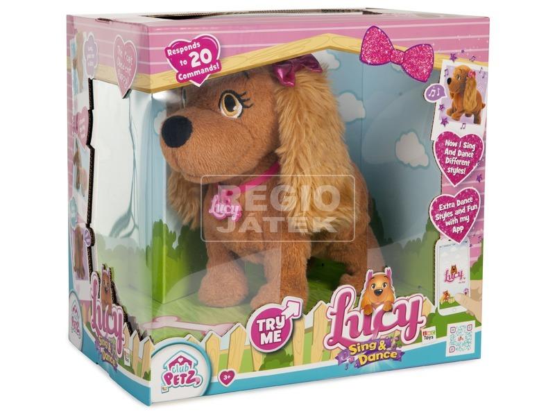 Lucy éneklõ-táncoló kutya plüssfigura-23 cm
