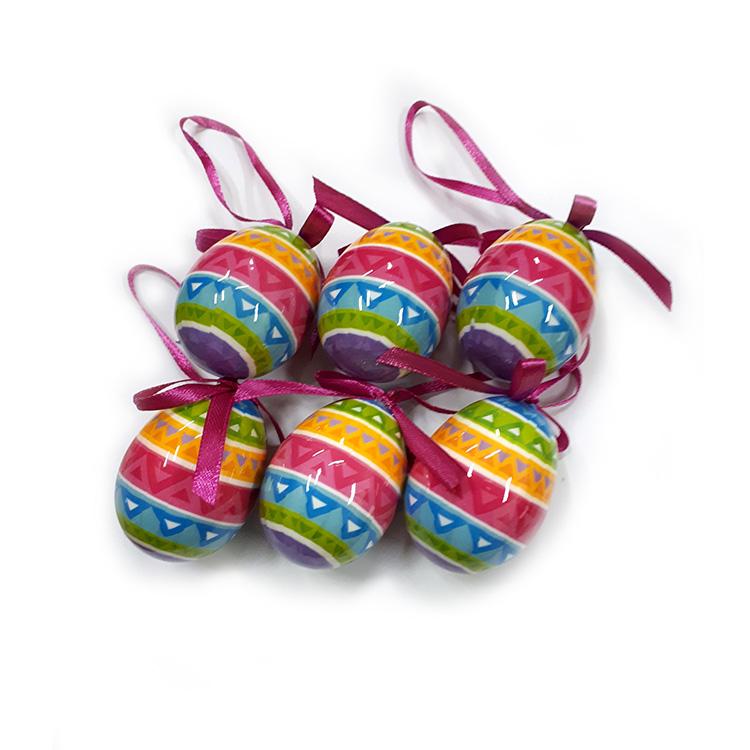 Húsvéti tojás (6db-os, színes-mintás)