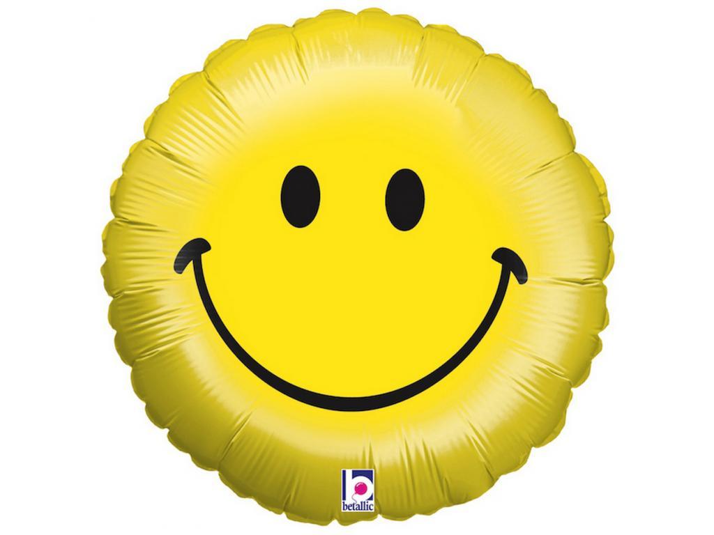 Mosolygó Emoji fólia lufi - 46 cm