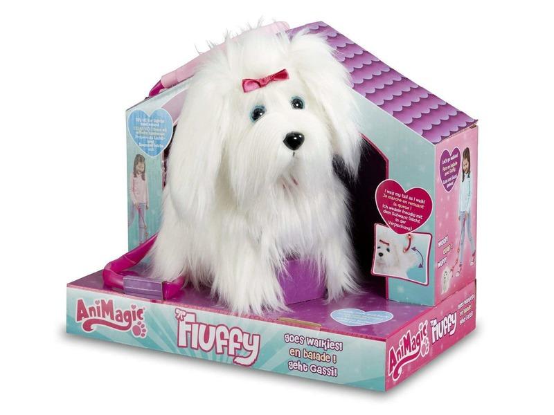 Fluffy a sétáló szõrgombóc kutyus - 22 cm