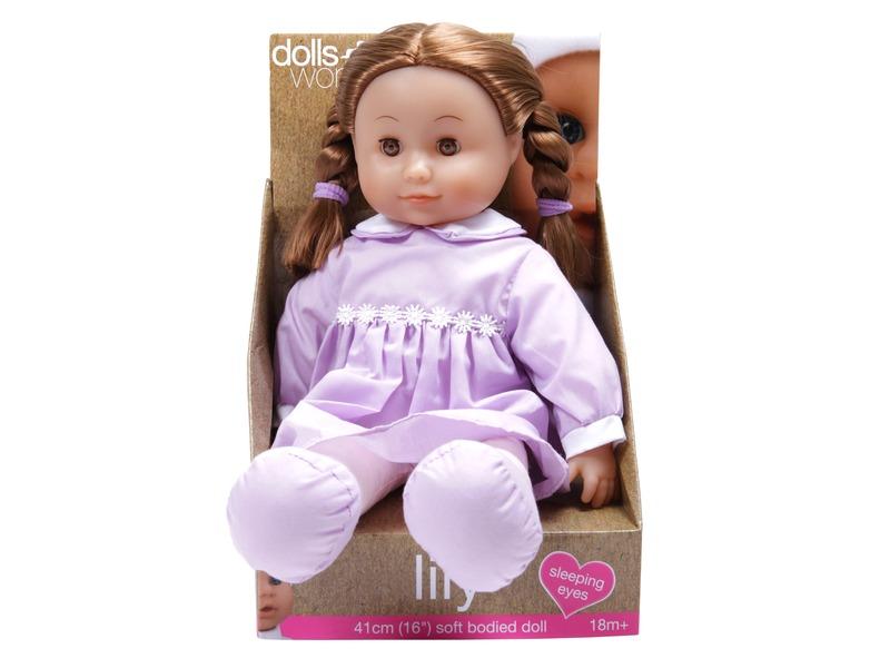 Lily puha játékbaba - 41 cm