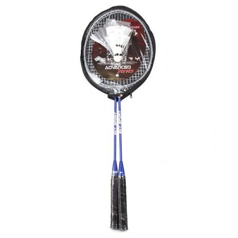 Fém tollasütõ szett 2 db labdával (kék-szürke)