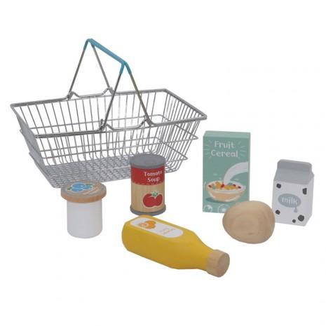 Bevásárló kosár termékekkel
