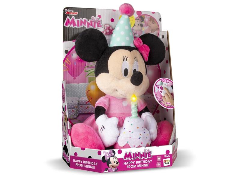 Minnie egér Boldog szülinapot plüssfigura - 29 cm