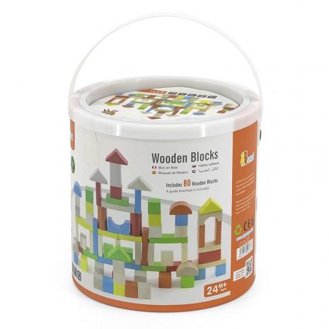 Építõkocka, kerek dobozos(80 db-os, színes)