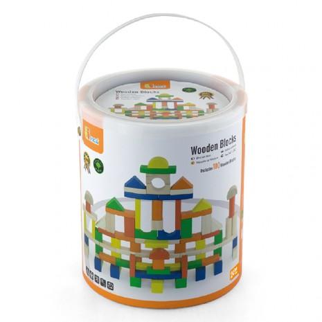 Építõkocka, kerek dobozos(100 db-os, színes)