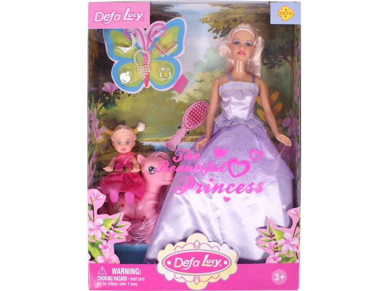 Defa Lucy hercegnõ baba kislánnyal pónival