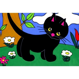 Cikicakk,a fekete cica diafilm